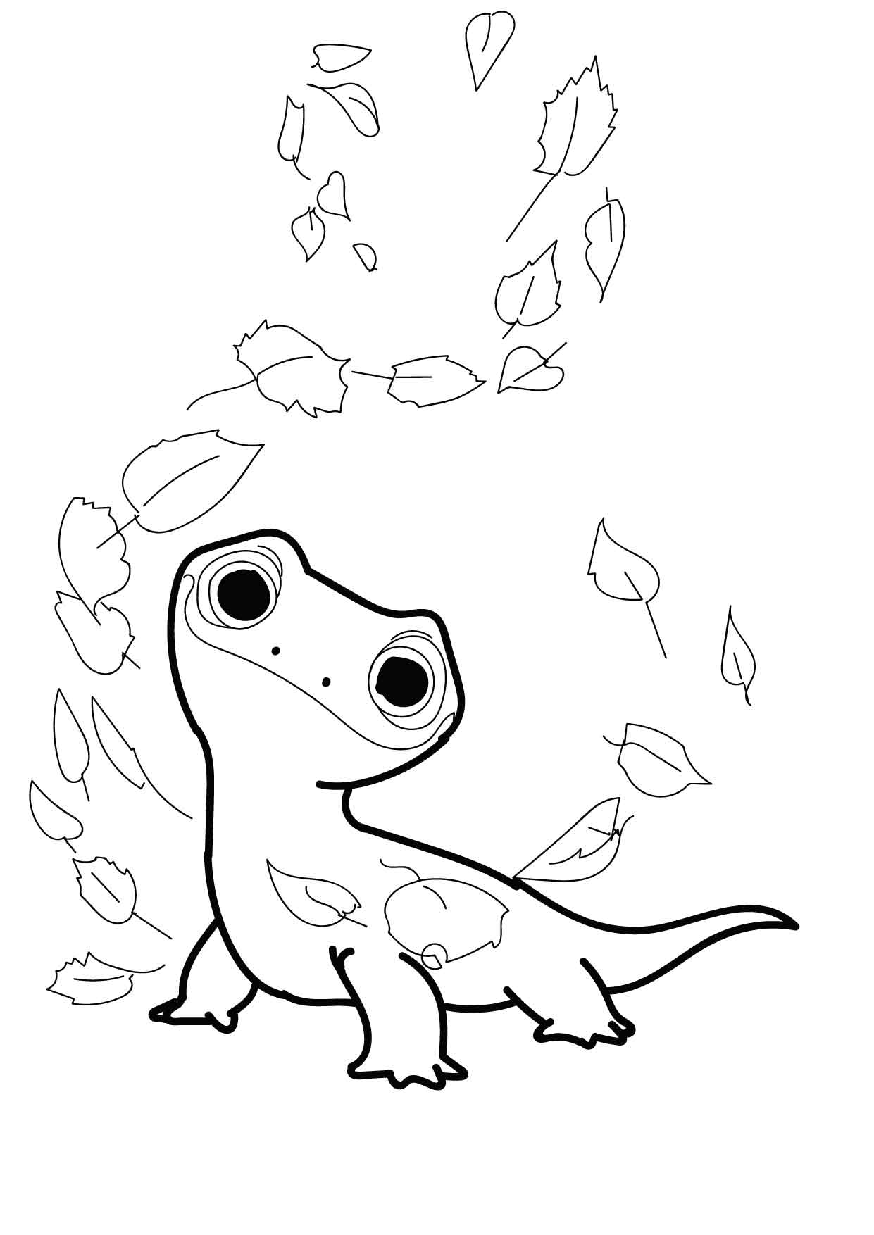 Bruni The Salamander Coloring Pages Frozen 2 Cristina Is Painting
