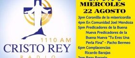 CRISTO REY RADIO EN VIVO Mart 22 Agosto 3pm a 7pm