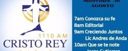 Cristo Rey Radio En VivoMierc 30 Agosto 7AM A 11AM