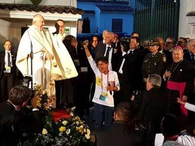 Papa Francisco en Nunciatura Apostólica de Colombia / Crédito: David Ramos (ACI Prensa)