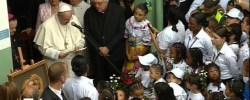 """El Papa en el Hogar de San José: """"Con el amor de familia, sanen las heridas del cuerpo y del corazón"""""""