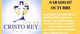 Cristo Rey Radio En Vivo Sábado 7 Octubre  11am a 1pm