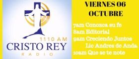 Cristo Rey Radio En Vivo Viernes 6 Oct 7am a 11am
