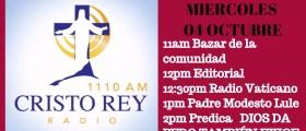Cristo Rey Radio En Vivo Miercoles 4 Octubre 11am a 3pm