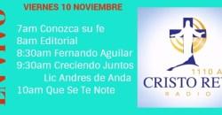 Cristo Rey Radio En Vivo Viernes 10 Noviembre 7am a 11am
