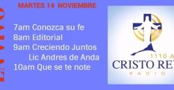 Cristo Rey Radio En Vivo Martes 14 Noviembre 7am a 11am