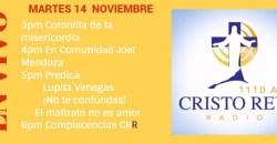 Cristo Rey Radio En Vivo Martes 14 Noviembre 3pm a 7pm