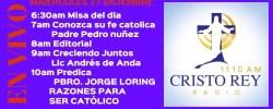 Cristo Rey Radio En Vivo Miercoles 27 Diciembre 6:30am a 10am