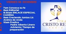 Cristo Rey Radio En Vivo Viernes 08 Diciembre 11am a 3pm