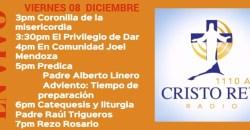 Cristo Rey Radio En Vivo Viernes 08 Diciembre 3pm a 7pm