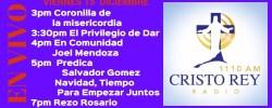 Cristo Rey Radio En Vivo Viernes 15 Diciembre 3pm a 7pm