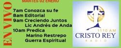 Cristo Rey Radio En Vivo Martes 02 Enero 7am a 11am