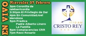Cristo Rey Radio En Vivo Miercoles 07 Febrero 3pm a 7pm