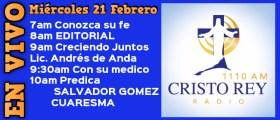 Cristo Rey Radio En Vivo Mart 20 Febrero 7am a 11am
