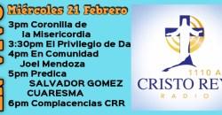 Cristo Rey Radio En Vivo miércoles 21 Febrero 3PM A 6PM