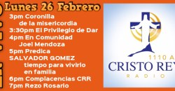 Cristo Rey Radio En Vivo LLun 19 Febrero 3pm a 7pm