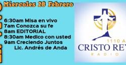Cristo Rey Radio En Vivo  miércoles 28 Febrero 7AM A 10AM