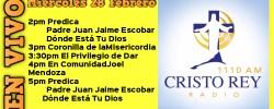 Cristo Rey Radio En Vivo miércoles 28 Febrero 2PM A 6PM