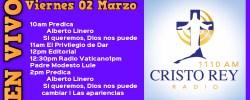 Cristo Rey Radio En Vivo  Viern 01 Marzo 10am a 2pm