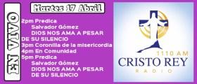 Cristo Rey Radio En Vivo Martes 17 Abril 2pm a 6pm