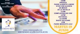Cristo Rey Radio En Vivo Martes 19  Junio   10am a 2pm