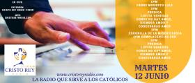 Cristo Rey Radio En Vivo Martes 04 Junio 1pm a 5pm