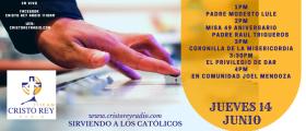 Cristo Rey Radio En Vivo  Jueves 14 Junio 1pm a 4pm