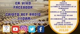Cristo Rey Radio En Vivo Lun 30 Junio 2pm a 6pm