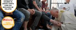 Francisco celebra el Jueves Santo con los reclusos de Velletri
