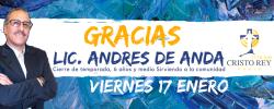 Prog Creciendo Juntos – Cierre de temporada Lic Andres de Anda  Cristo Rey Radio