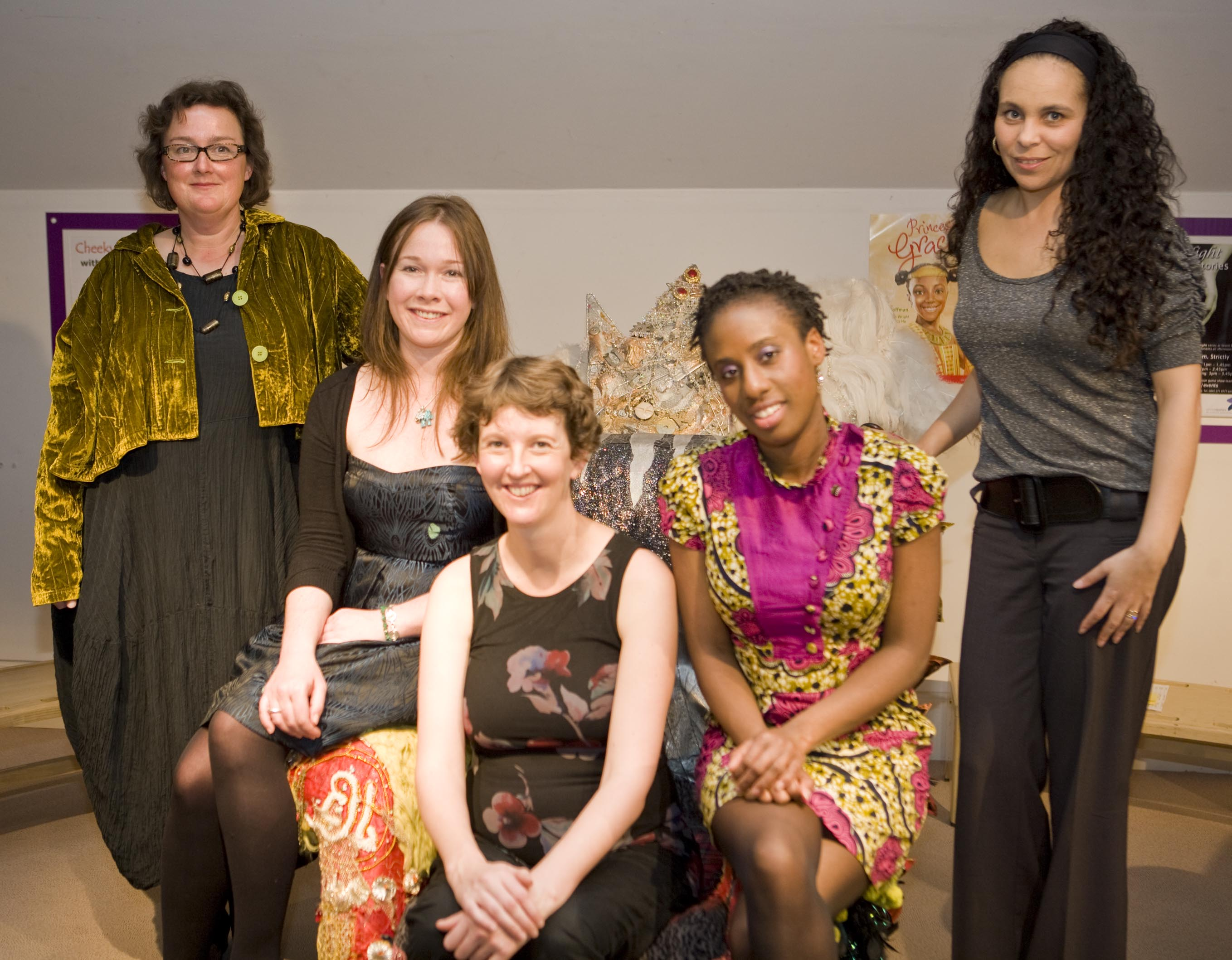 Shortlisted authors attending the Frances Lincoln Diverse Voices Award ceremony