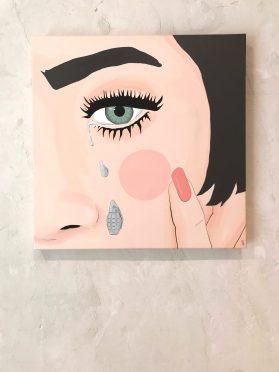 CRIED BOMBS. Acrílico sobre lienzo. 50x50 cms.