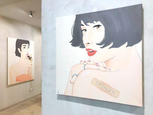 STRONGER. Acrílico sobre lienzo. 60x60 cms.