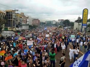 Este es el clamor del pueblo en las calles de toda Honduras exigiendo la instalación de una CICIH.