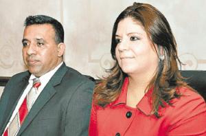 Lena Gutiérrez con el malogrado abogado Eduardo Montes.