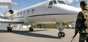 El jet mexicano aterrizó sin permiso en el aeropuerto de Roatán el pasado 16 de julio.