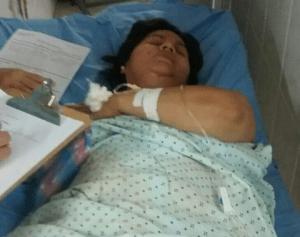 La periodista Dunia Montoya, permanece hospitalizada tras la golpiza por los elementos de Fusina.