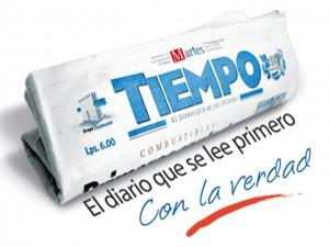 Sala de Redacción de Diario Tiempo en Tegucigalpa.