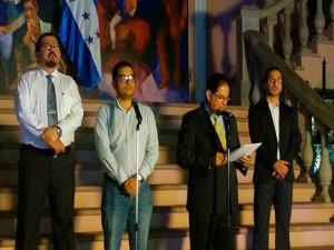 Jorge Hernández Alcerro, cuando anunciaba la creación del Grupo Interagencial.
