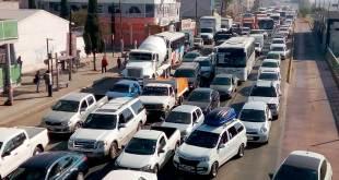 Detenido el tráfico en la salida a la México-Pachuca