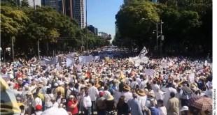 Marchan contra AMLO en la CDMX a un año de gobierno