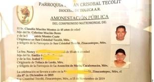 Estado de México: se retracta iglesia de casar a niña de 15 años