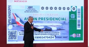Llevan vendidos 22.5% de cachitos de rifa del avión presidencial