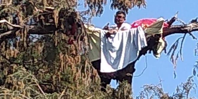 Hombre que tendía ropa provoca movilización policíaca en Hidalgo