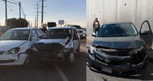 Dejan dos choques tres lesionados en Mineral de la Reforma
