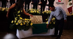 Instalaron la primera piedra del memorial en Tlahuelilpan