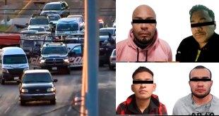 Detienen a cuatro sujetos por presunto asalto en La Reforma