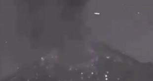 ¿Un OVNI tras explosión en el Popocatépetl?