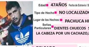 Se busca a Arturo Alonso González, extraviado en Pachuca