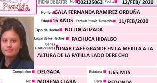 Gala Fernanda Ramírez se extravió en Pachuca
